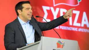 Alexis Tsipras, leader du parti Syriza, s'est exprimé pendant plus d'une heure lors de son dernier meeting, à Athènes.