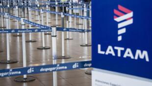 La zona de factuación de la aerolínea LATAM en el aeropuerto internacional de Santiago, en una imagen del 10 de abril de 2018