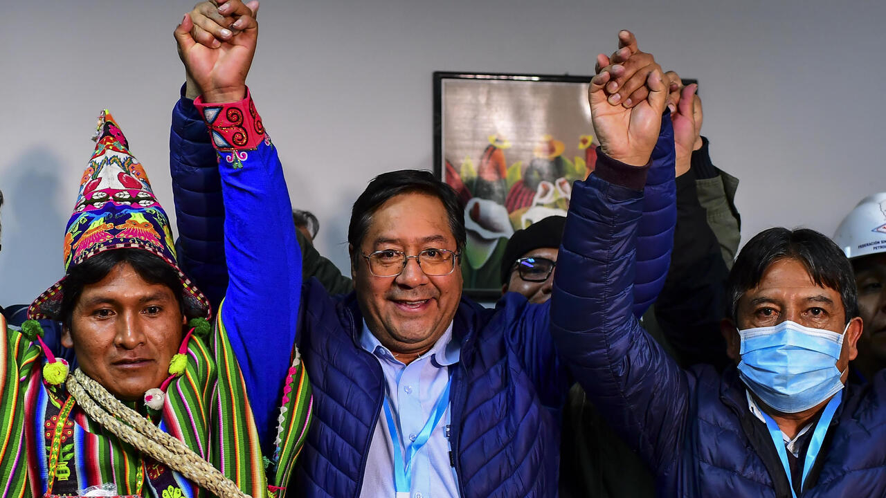 Bolivian socialist candidate Arce set to win election outright, exit poll shows