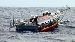French fisheries patrol vessel the FPV Osiris eventually rescued the sailors