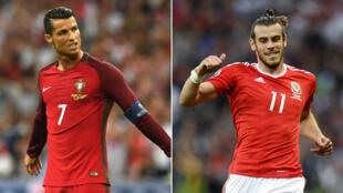 Cristiano Ronaldo et Gareth Bale, deux superstars qui s'affrontent en demi-finale de l'Euro-2016.