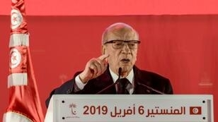 Tunisian President Beji Caid Essebsi tells his party congress he does not think he will stand for relection in November polls