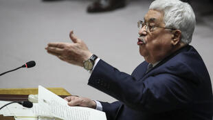 Mahmoud Abbas, devant le Conseil de sécurité de l'ONU, le 20 février 2018.