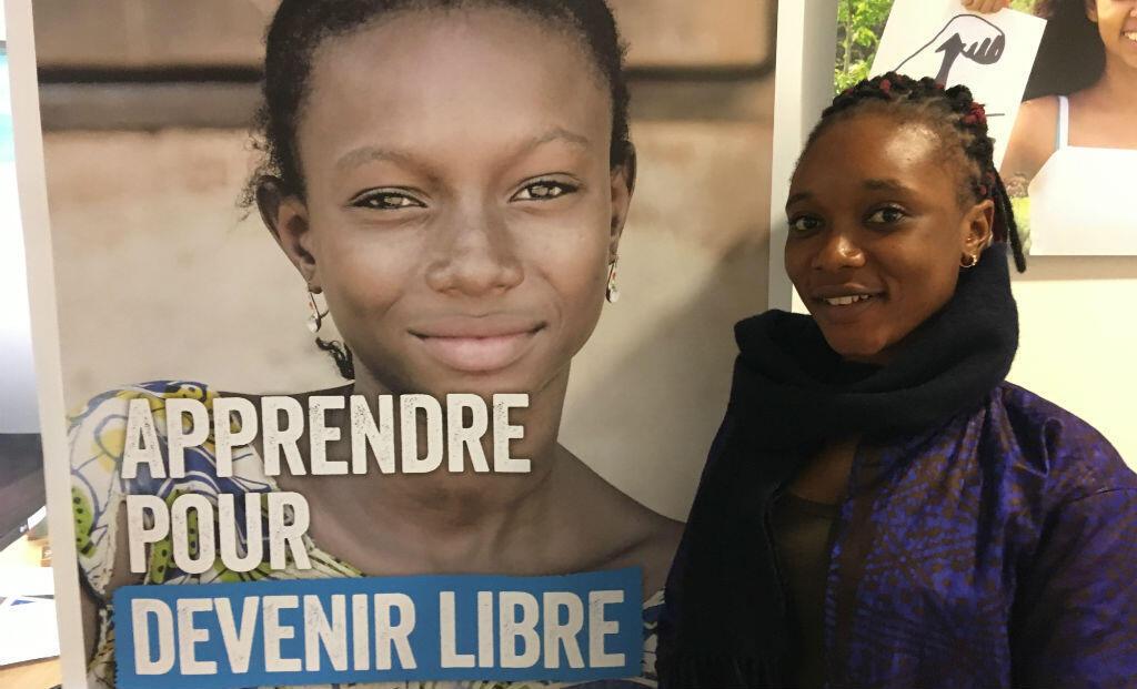 Foulematou, militante guinéenne de 20 ans, en visite à Paris.