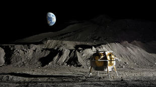 Le module lunaire Peregrine d'Astrorobotic.