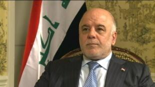 Le Premier ministre irakien Haider al-Abadi tenait une conférence à Bagdad, samedi 9 décembre 2017.