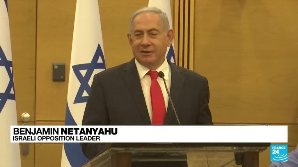 """2021-06-14 18:40 Israel new govt: """"The fraud government will fall quickly"""", says Netanyahu"""