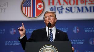 دونالد ترامب يعقد مؤتمرا صحفيا بعد لقائه مع الزعيم الكوري الشمالي في هانوي 28 فبراير/ شباط 2019