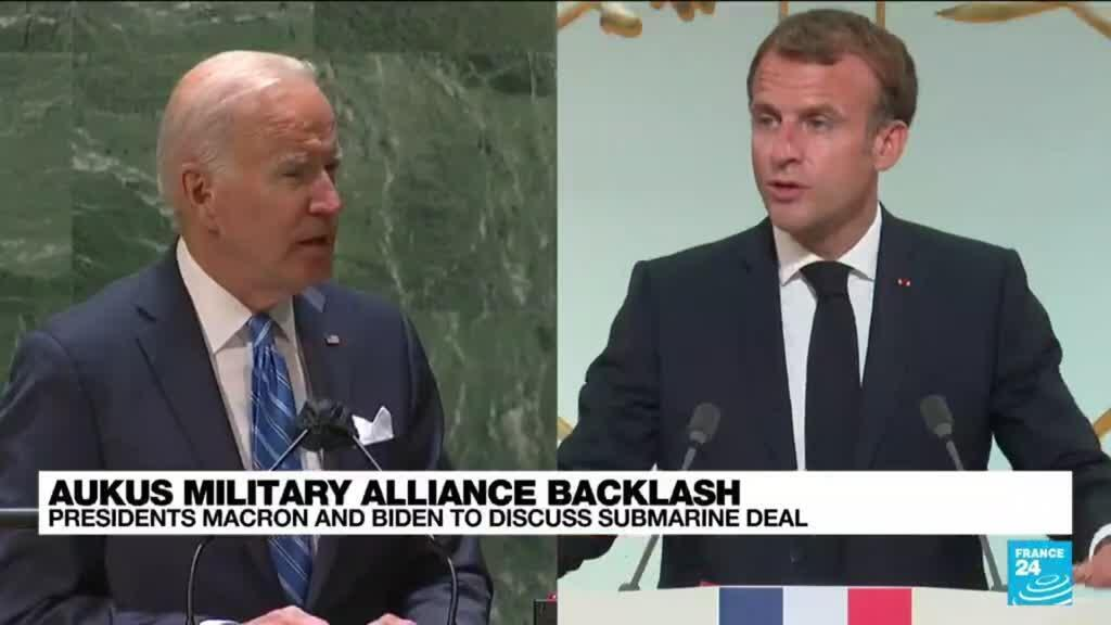 2021-09-22 15:01 Macron expects 'concrete measures' from Biden call to rebuild trust
