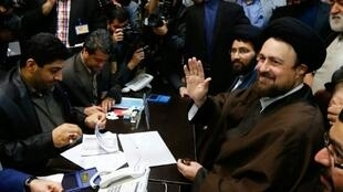 حسن الخميني حفيد مؤسس الجمهورية الإسلامية والمقرب من الإصلاحيين في إيران.