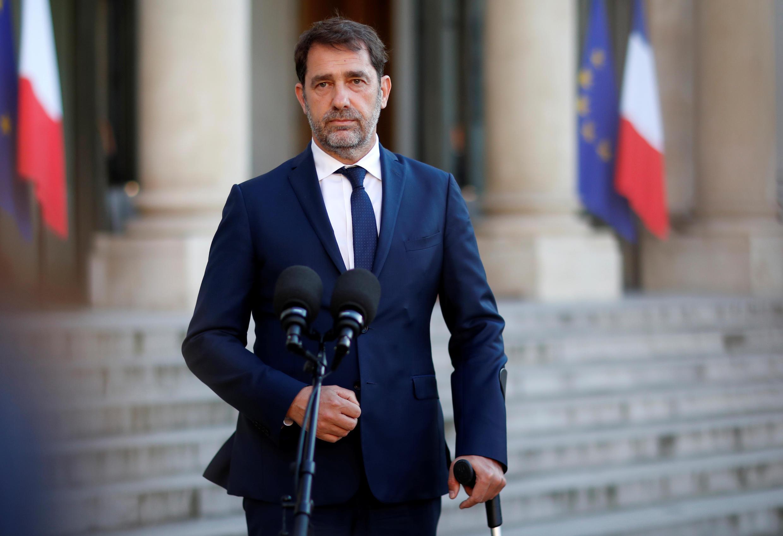 Le ministre de l'Intérieur Christophe Castaner, le 19 mai 2020 devant l'Elysée à Paris