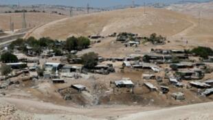 قرية خان الأحمر البدوية في الضفة الغربية المحتلة في 05 تموز/يوليو 2018