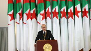 الرئيس الجزائري عبد المجيد تبون 19 كانون الأول/ديسمبر 2019.