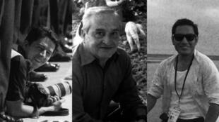 El equipo periodístico del diario 'El Comercio' que fue secuestrado y asesinado en la frontera colombo-ecuatoriana entre el 26 de marzo y el 12 de abril de 2018. De izquierda a derecha: Paúl Rivas, fotógrafo; Efraín Segarra, conductor; y Javier Ortega, periodista.