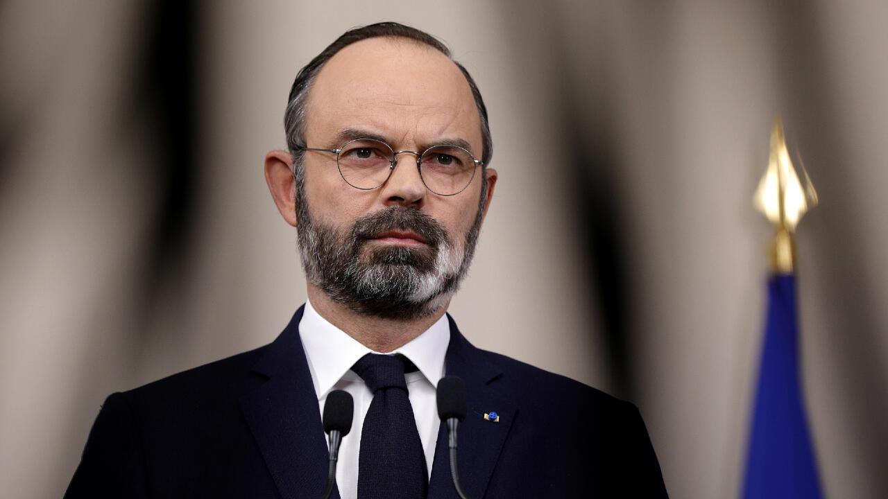 رئيس وزراء فرنسا إدوار فليب. 28 مارس/آذار 2020.