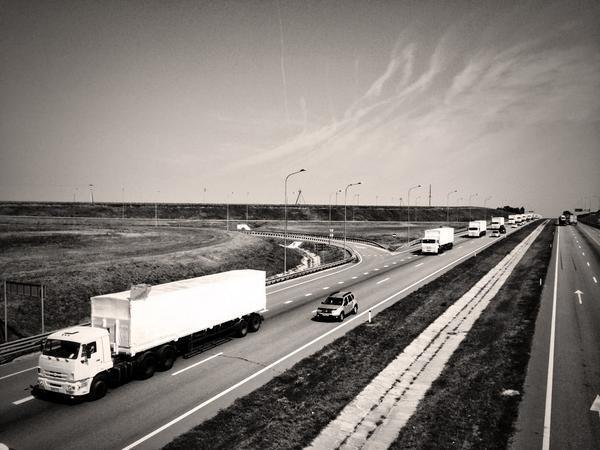 Photo du convoi russe par un journaliste d'Associated Press