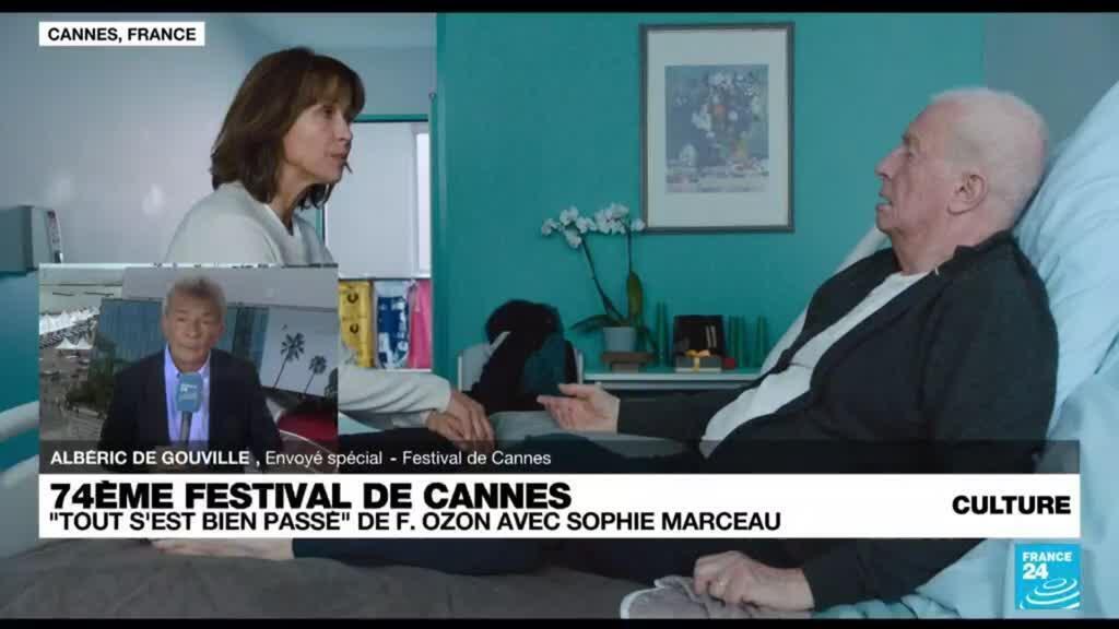 """2021-07-08 14:46 Festival de Cannes : """"Tout s'est bien passé"""" de F. Ozon avec Sophie Marceau"""