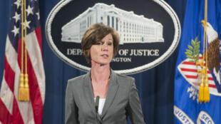 Fonctionnaire de l'ancienne administration Obama, Sally Yates, assurait l'intérim du ministère de la Justice aux États-Unis après l'élection de Donald Trump.