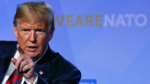 Donald Trump interviene en una rueda de prensa en la cumbre de la OTAN. 12/7/18
