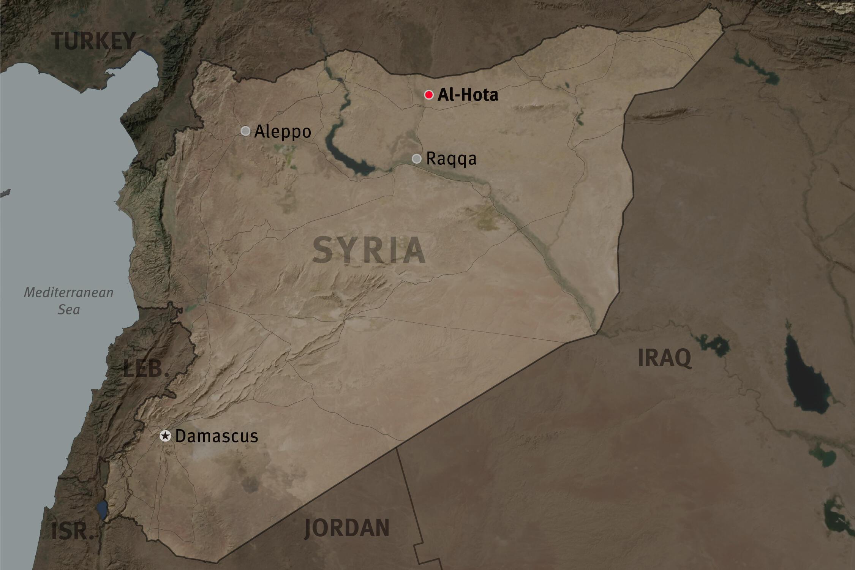 Carte d'Al-Hota en Syrie