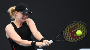 Britain's Francesca Jones was playing at a Grand Slam for the first time