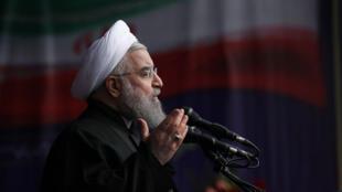 Le président Rohani, lors du 38e anniversaire de la République islamique d'Iran, le 10 février 2017.