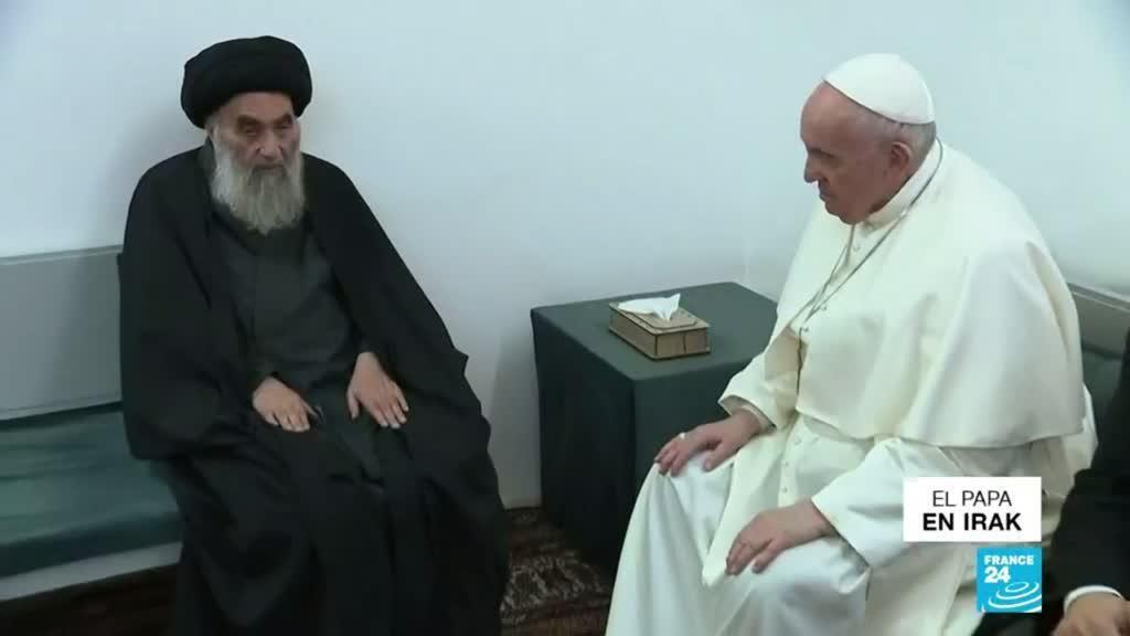 2021-03-07 00:03 Histórico encuentro entre el papa Francisco y el ayatolá Al-Sistani