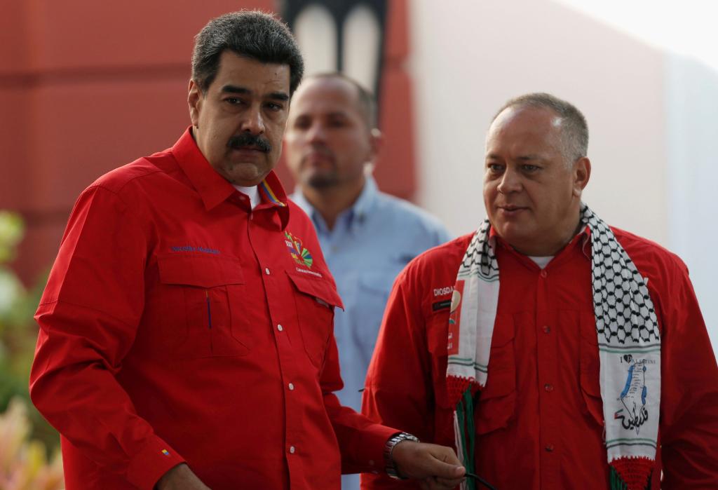 El presidente de Venezuela, Nicolás Maduro, junto al presidente de la Asamblea Nacional Constituyente, Diosdado Cabello.