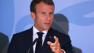 Emmanuel Macron au Luxembourg, le 6 septembre 2018.