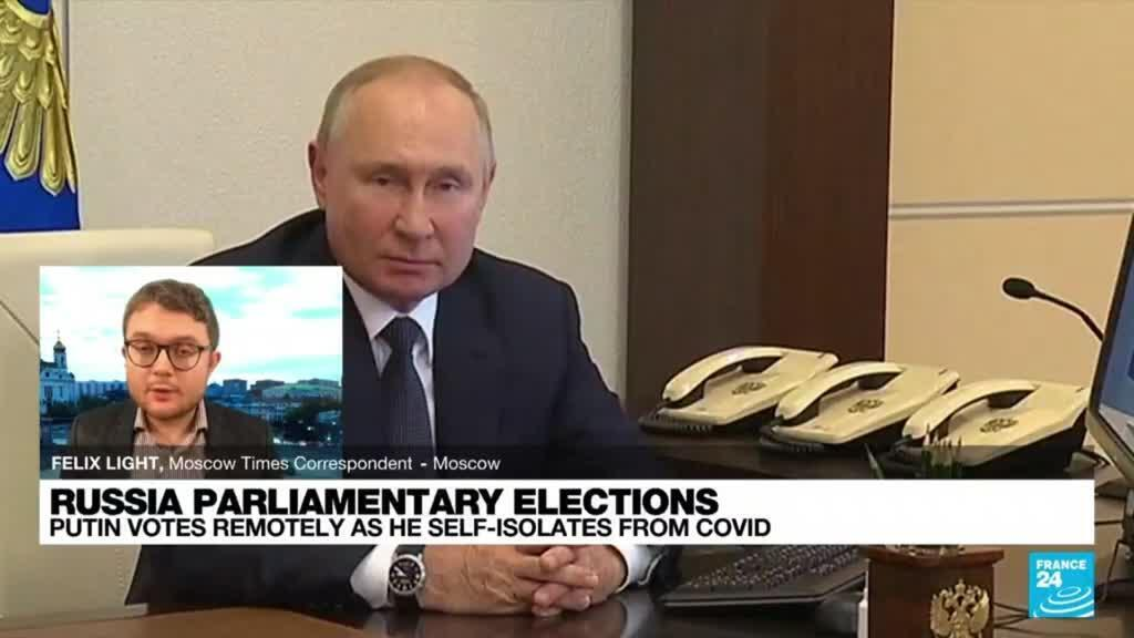 2021-09-17 18:04 'Very controversial': Putin votes online from isolation after Covid-19 contact