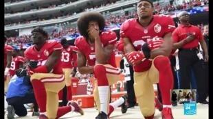 2020-06-03 20:05 Le genou à terre, symbole contre la discrimination raciale initié par Colin Kaepernick