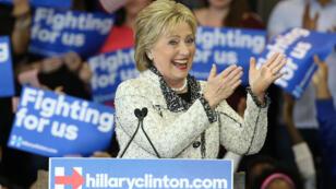 Hillary Clinton lors de son discours de victoire en Caroline du Sud, le 27 février 2016.