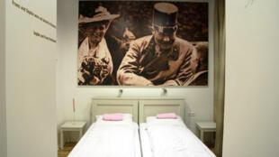 """La chambre """"Sophie et Franz"""" de l'auberge Franz Ferdinand"""