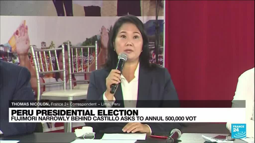 2021-06-10 12:07 Castillo assumes 'victory' in Peru election, rival Fujimori wants votes anulled