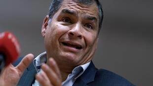 Ecuador's former president Rafael Correa, who lives in exile in Belgium, was sentenced in absentia in April to eight years in prison for corruption during his 10-year term