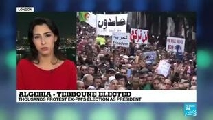 "2019-12-13 21:09 Algeria - Tebboune elected: President-elect ""extends hand"" to protest movement"
