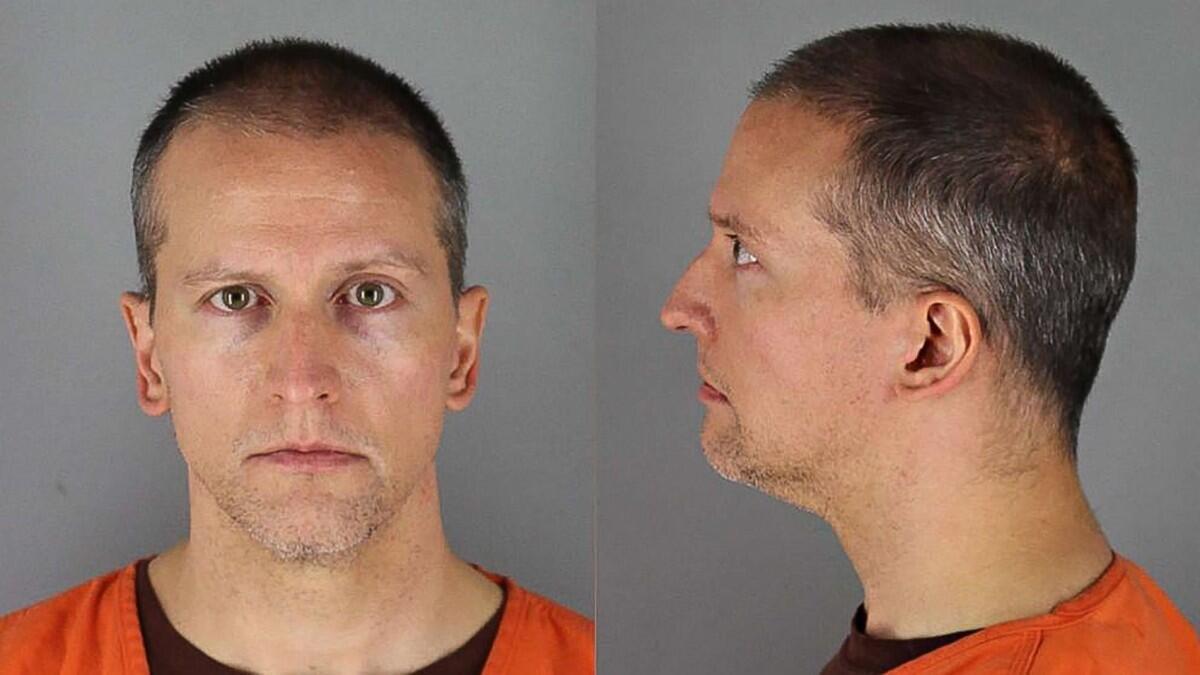 Fotografía del exagente de policía Derek Chauvin, otorgada por Hennepin County Jail, el 31 de mayo, cuando fue llevado a prisión.