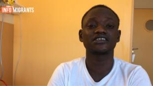 Modibo es un migrante malí de 16 años, hospitalizado en Francia tras los actos de tortura que sufrió en Libia.