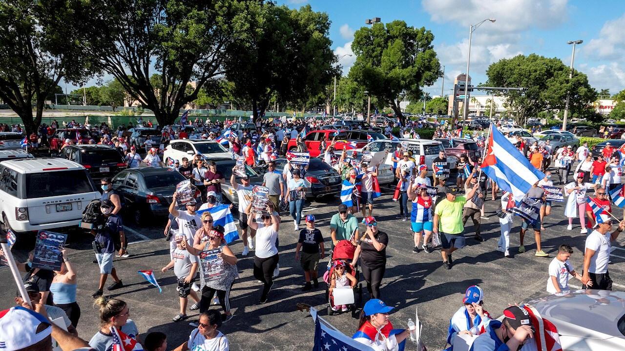 cubanos florida protestas