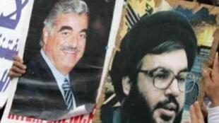 مظاهرات لأنصار حزب الله في العاصمة اللبنانية بيروت 29 يونيو/حزيران 2011 اعتراضا على المحكمة الدولية الخاصة بقضية اغتيال رفيق الحريري