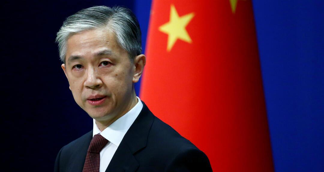 El portavoz del Ministerio de Relaciones Exteriores de China, Wang Wenbin, habla durante una conferencia de prensa en Beijing, China, el 27 de julio de 2020.