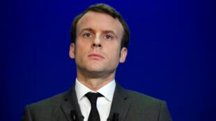 Emmanuel Macron lors d'une conférence de presse à Paris, le 19 janvier 2017.