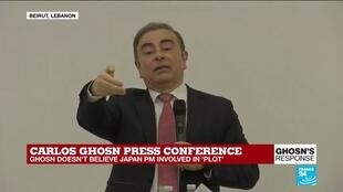 """2020-01-08 15:46 """"Why do people raise this question now?"""" Carlos Ghosn defends trips to Israel"""