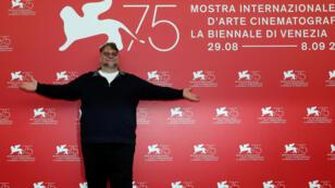 El presidente del jurado de la versión número 75 del festival de cine de Venecia, Guillermo del Toro, en la apertura, el 29 de agosto de 2018.