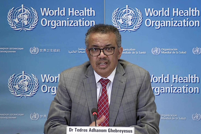 (FILE PHOTO) World Health Organization director-general Tedros Adhanom Ghebreyesus, pictured March 2020.