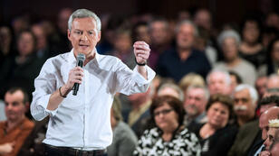 Bruno Le Maire a annoncé officiellement sa candidature à la primaire de la droite et du centre, mardi 23 février 2016, à Vesoul.