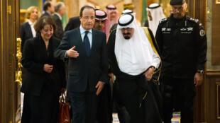 François Hollande et le roi Abdallah en novembre 2012