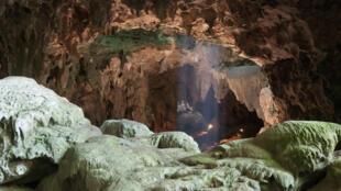 Los fósiles fueron encontrados en la Cueva del Callao en la parte norte de la isla de Luzón, Filipinas.