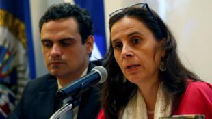 Antonia Urrejola, comisionada de la Cidh cuestionó la acción de las fuerzas de seguridad nicaragüenses durante las protestas. Mayo 21 de 2018.