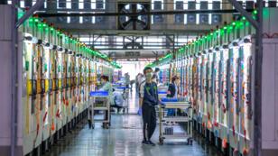 Imagen de la empresa de tecnología de precisión Everwin de Guangdong, el taller de procesamiento inteligente más grande de Asia, en Dongguan, Guangdong, China, el 9 de mayo de 2019..